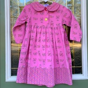 Other - Fun corduroy pink dress size 3T